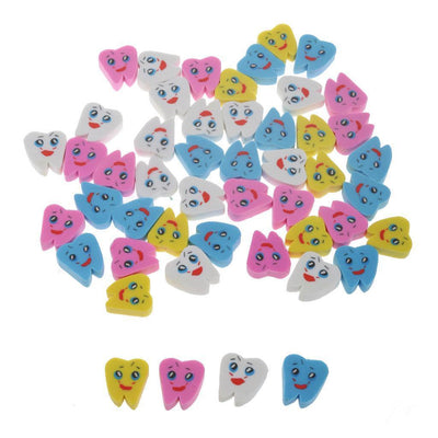 50pcs Molar Shaped Tooth Rubber Erasers Dentist Dental Clinic School Gift