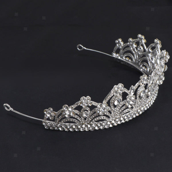 MagiDeal Bridal Flower Girls Tiara Rhinestone Headband Accessory Wedding