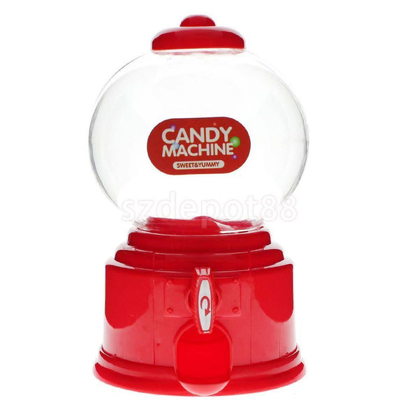 Candy Dispenser Machine Gumball Gum Ball Snacks Coin Storage Box Gift Red