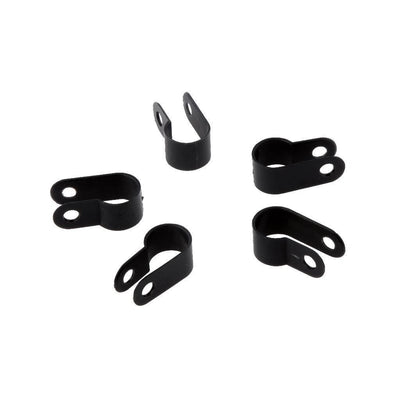 Black Coax Cat5 Cat6 10.4mm R TYPE Cable Clamps Coaxial Wire Clips 1000PCS