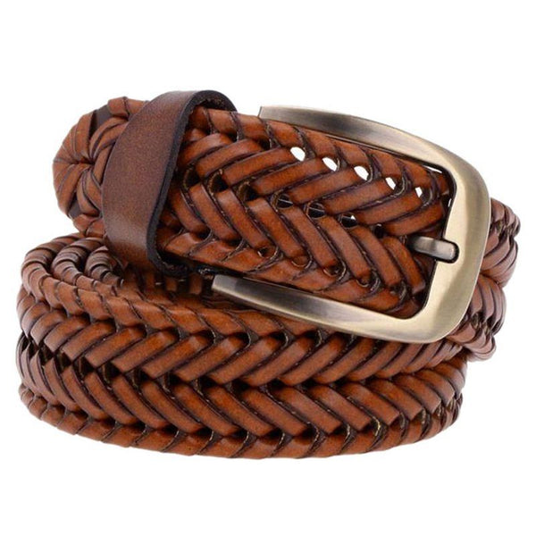 Women's Braided Belt with Camel Pin Buckle W3Q9