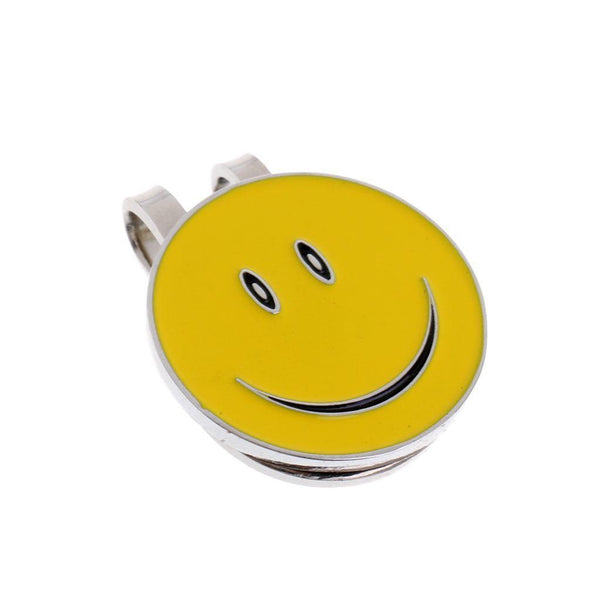 10Pcs Smile Face Alloy Golf Visor / Hat Clip with Magnetic Ball Marker