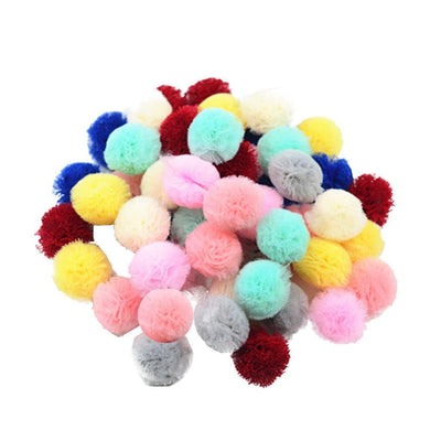 50pcs Candy color DIY Baby Girl Toddler Chiffon Hairwear Hair Clip Headband