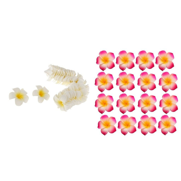 200x Wedding Frangipani Foam Floating Plumeria Flower Heads Craft Hair Clips