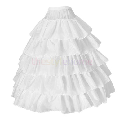 MagiDeal 4 Hoops Petticoat Underskirt for Bridal Wedding Gown Evening Dress