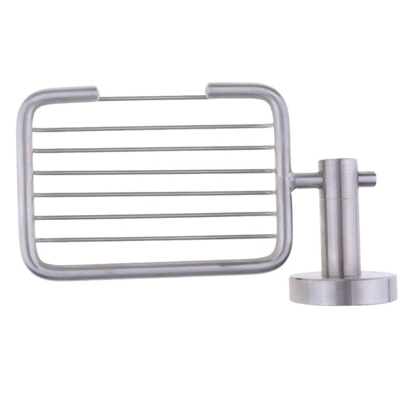 304 Stainless Steel Soap Basket Shower Soap Dish Holder Wall Mounted Boat