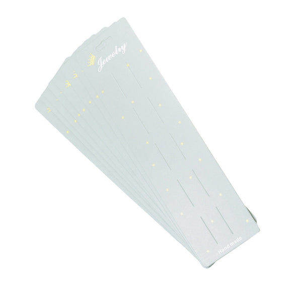 10pcs Lengthen Hair Clip Card Paper Jewelry Display Cards Paper Cardboard