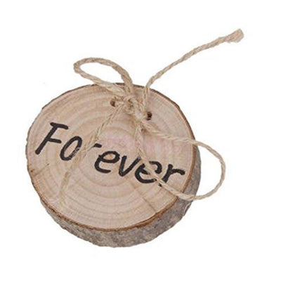 """ Forever "" Wood Ring Box Wedding Decor Chic Wooden Photography Props H3C1"