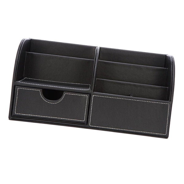 Desk Tidy Organiser Caddy Pen Holder Tidy Make Up Drawers Cosmetic Black