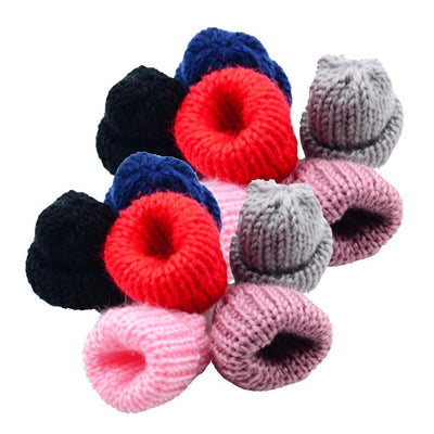 12pcs Mini Assorted Color Knitting Wool Yarn Hats for DIY Hair Accessories