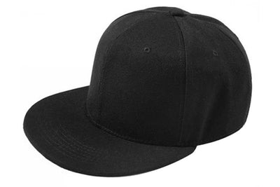 Plain Re-entry Hip-Hop Baseball Cap Boy Adjustable Hat Black D5R1