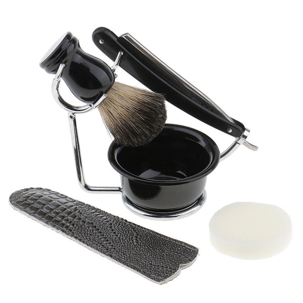 7Pcs Brush Razor Stand Holder Soap Bowl Set For Men Shaving Good Shave Tool