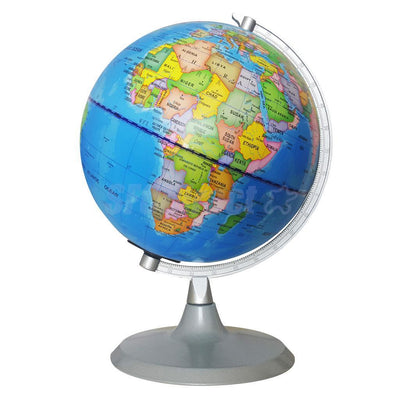 Rotatable World Globe Illuminated Constellation Map Home Decor Ornament 20cm