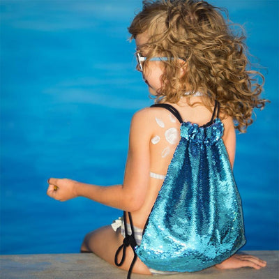 2xNew Sequin Drawstring Backpack Glittering Outdoor Shoulder Bag for Girls