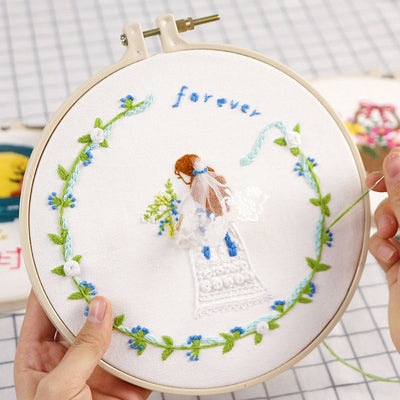 """forever"" Embroidery Starter Kit Cross Stitch Tool for Beginner Craft Lover"
