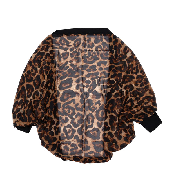 spring and autumn cardigan sweater women sexy leopard long-sleeved shirt sw F6M1