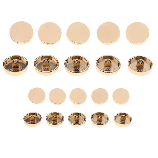 20pcs Round Metal Shank Buttons Sewing Button for Shirts Coats Suits 18/25mm