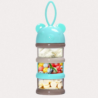 2pc Stackable Portable BPA Free Baby Milk Powder Dispenser Food Storage Feed