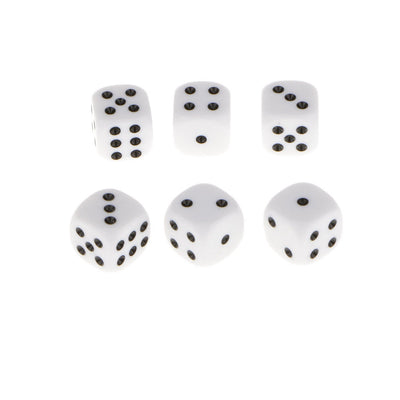 200pcs Acrylic 1.6cm D6 Dice Six Sided for Dungeons &Dragons RPG Accessories