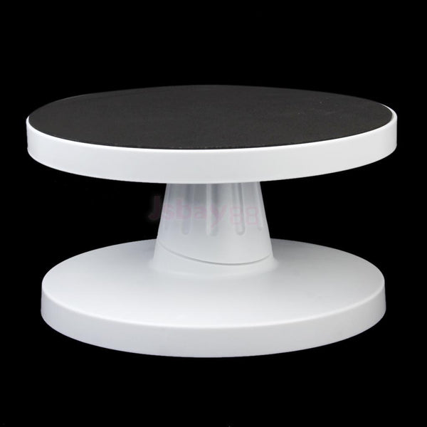 26CM Round Cake Stand Rotating Fondant Platform Icing Decorating Turntable
