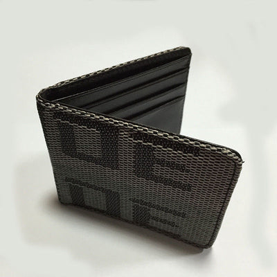 Car Racing Bride Wallet Credit and Business cards Holder Pocket Black - Gray