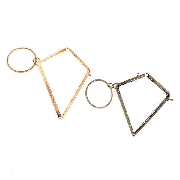 2xMetal Kiss Frame Clasp Lock L Shape For Coin Purse Bag Accessory Craft DIY