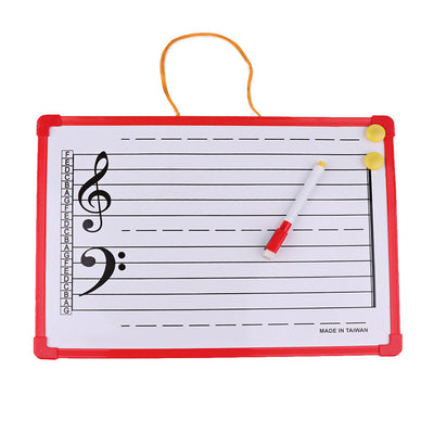 Music Notation Whiteboard Dry Erase Board for Meeting School Teaching