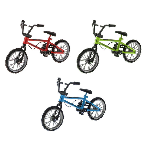 3 x Alloy Mountain Road Finger Bike Colorful Bicycle for Kids Birthday Gift