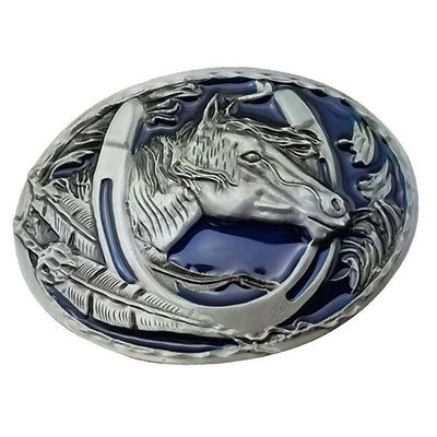 Western Cowboy Rodeo Horse Head Pattern Zinc Alloy Fashion Men's Belt Buckle
