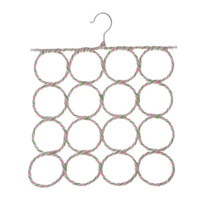 2xMulti Scarf Hanger Display Hang Ties Belt Organize 16 Holes Storage Holder
