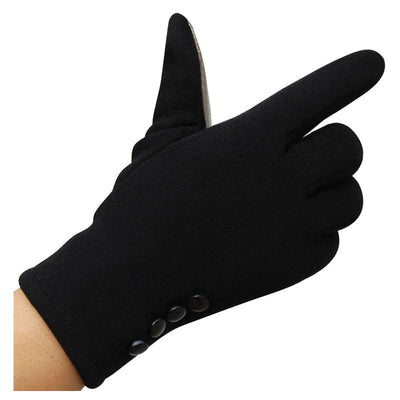 Women Winter Warm Gloves Touch Screen Sport Ski Gloves warmer 1 PAIR, black F5F2