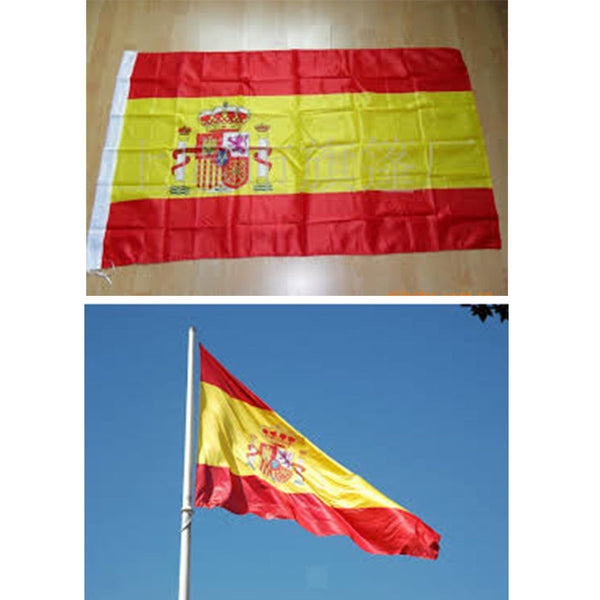 5 x 3FT World Flags Country Flags Football Decor Banners Belgium & Spain