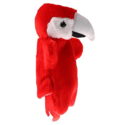 Cute Parrot Glove Puppet Teaching Toys Children's storytelling Toys Red