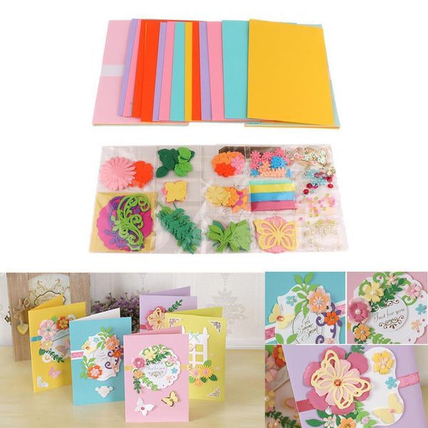 DIY Greeting Card Kit Card Making Supplies Include 15 Cards & 15 Envelopes