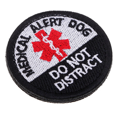 """Medical Allert Dog"" Embroidery Sew On Patch Clothes Badge Fabric Applique"