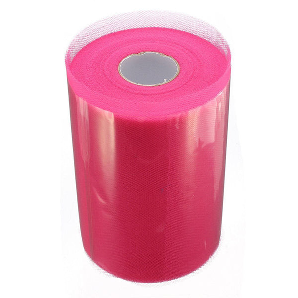 "Soft 6""x100yd Tulle Roll Spool Wedding Decor 6""x300' rose red H2O3"