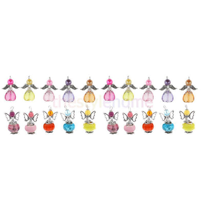 MagiDeal 20pcs Cute Fairy Angel Wings Butterfly Wing Mixed Fashion Pendants
