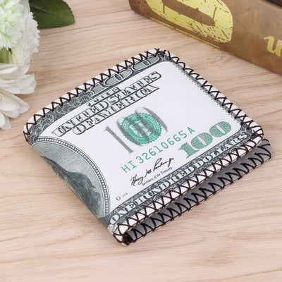 Fashion Men's US Dollars Bill Wallet Bifold Wallets 100$ Coin Card Holder Pocket