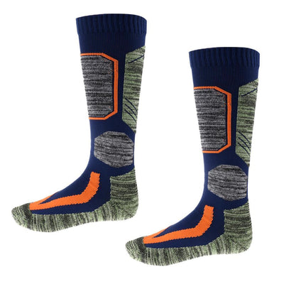 Unisex Thermal Long Ski Socks for Winter Hiking Walking Snowboarding Blue L