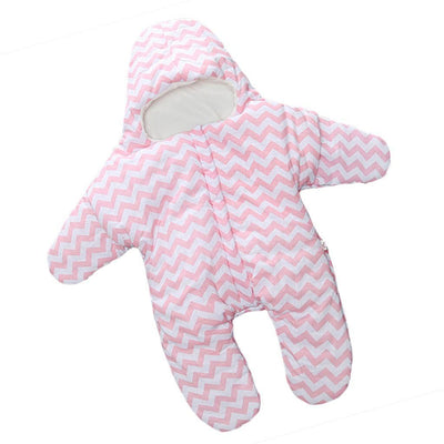 Newborn Baby Soft Swaddle Wrap Blanket Cotton Sleeping Bag Pink 0-12 Months