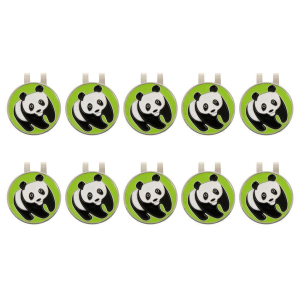 10Pcs Panda Alloy Golf Hat Clip Magnetic with Ball Marker Golfer Gift
