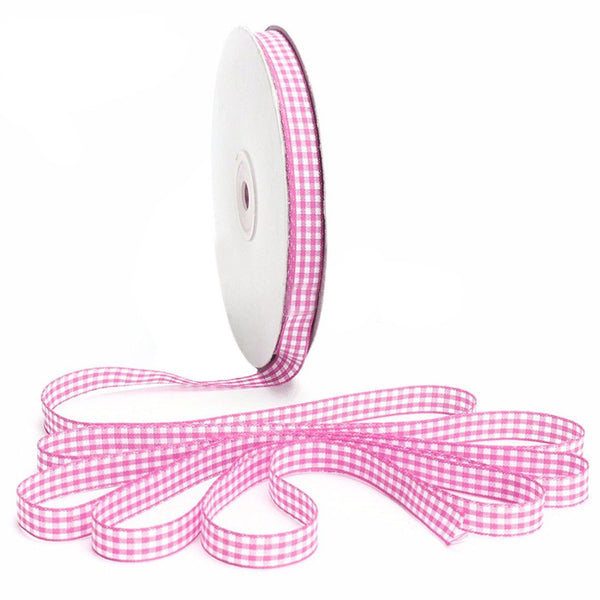 45m Full Reel Cut Lengths Gingham Ribbon Sewing Crafts, 10mm Wide P S4N4