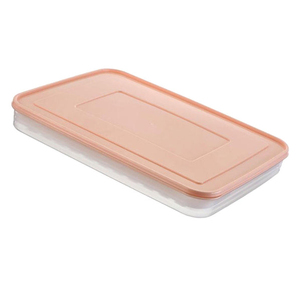 Kitchen Plastic Food Storage box Sealed with a Ice Lattice and lid Pink