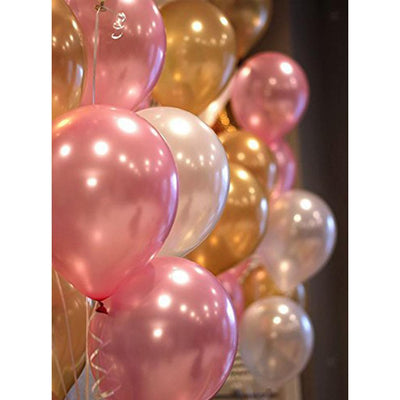 """1"" Foil Balloon Baby Birthday Bunting Banner Latex Balloon Party Decoration"