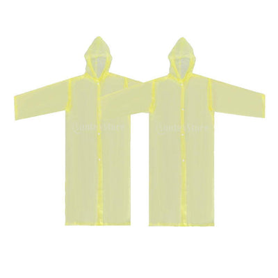 Nondisposable Waterproof Kid Child Raincoat Poncho for Walking Emergency YL