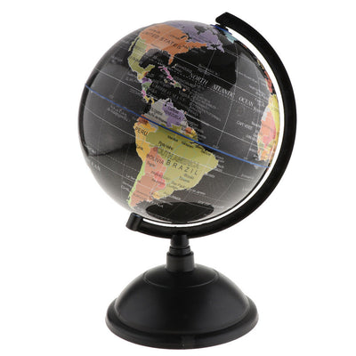 20cm Globe with Base World Discovery Educational Gift Table Decoration Black