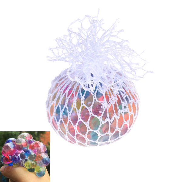 Anti Stress Reliever Rainbow Grape Ball Squishy Phone Straps Funny Toys Gift 3C