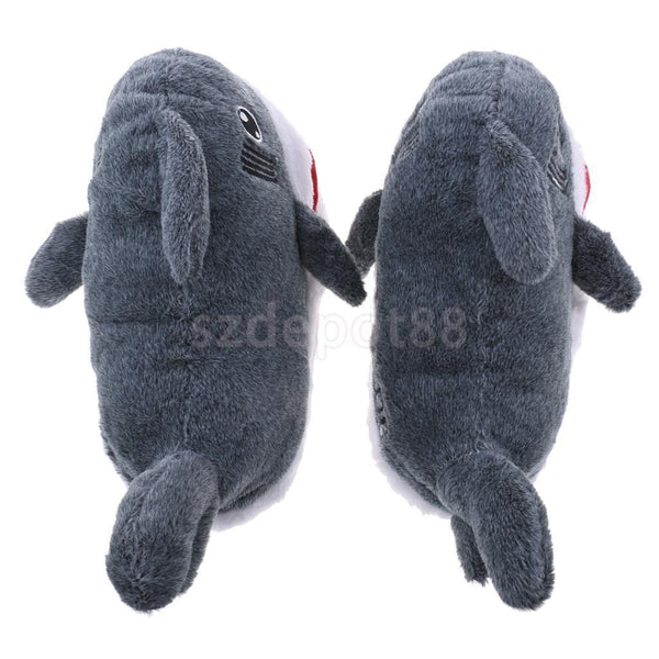 Funny Shark Warm Soft Plush Slippers Home Indoor Slippers Novelty Gifts