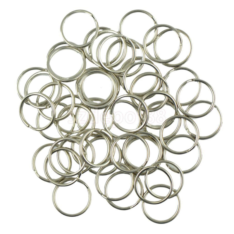 100pcs Metal Key Holder Split Rings Keyring Keychain Keyfob Accessories Crafts