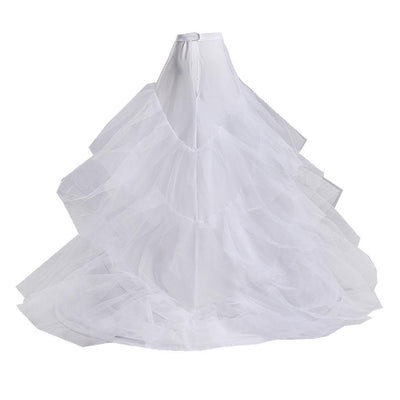 White 2 Hoop 3 Layer Wedding Dress Prom Train Crinoline Petticoat Underskirt